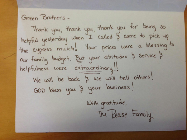 The Pease Family - testimonial