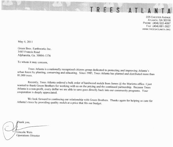 Trees Atlanta - testimonial